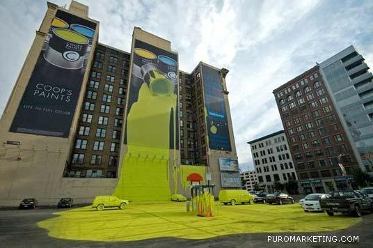 50 Grandes ejemplos de Publicidad creativa en fachadas y edificios