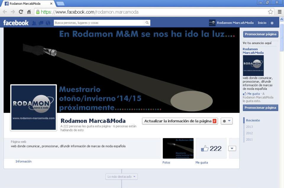 Muestrario Rodamon M&M: Desde la oscuridad…