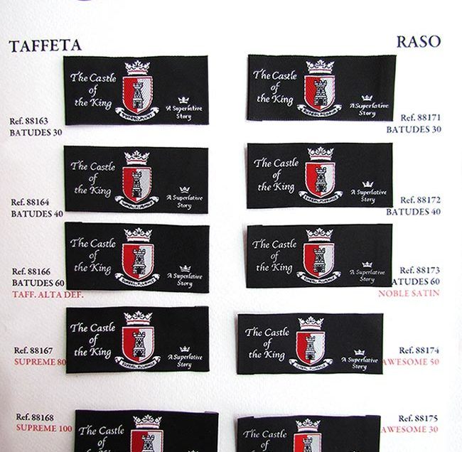 Woven labels and definition of the logo